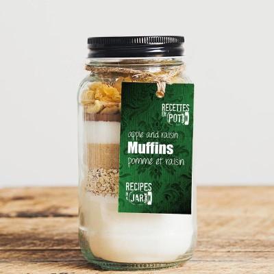 Apple and raisin muffins